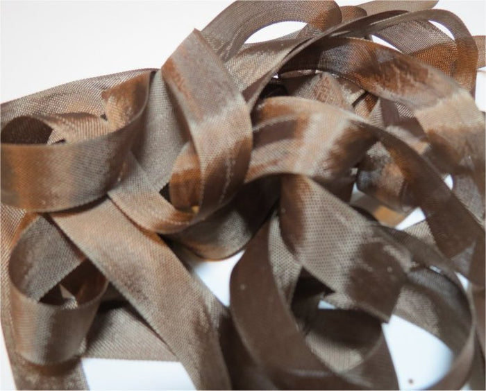 Tobacco Brown - Silk Style Vintage Ribbon - 5 Yards