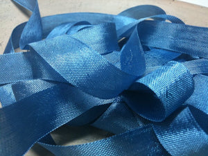 Windsor Blue - Silk Style Vintage Ribbon - 5 Yards