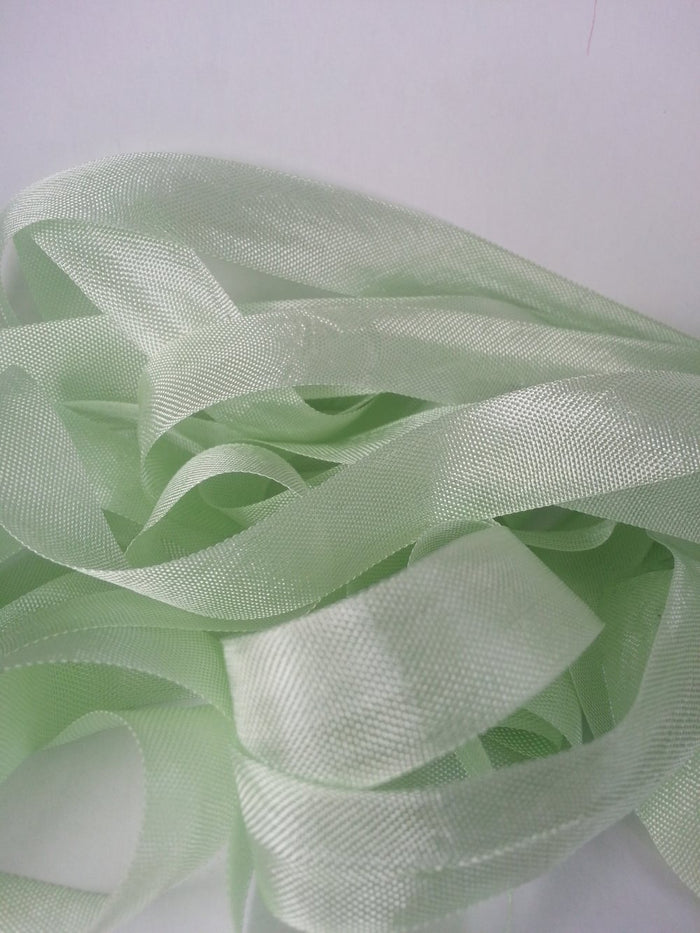 Iced Lime - Silk Style Vintage Ribbon - 5 Yards