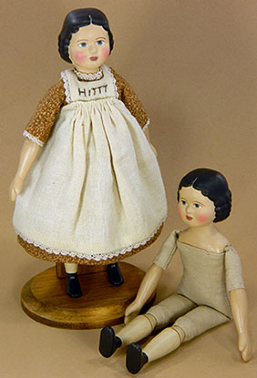 GAIL WILSON - Historical Folk Doll Series - HITTY 6-1/2 inch- Complete Kit with Accessories