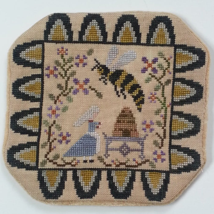 Telling the Bees - Candle Mat Cross Stitch - Penny Series