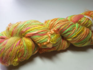 Hand Spun Yarn for Rug Hooking - Citrus Grove - OOAK