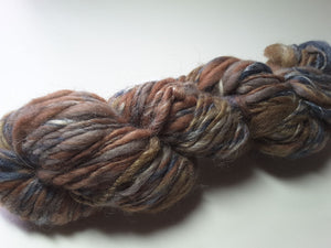 Hand Spun Yarn for Rug Hooking - Forest Floor -OOAK