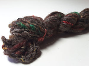 Hand Spun Yarn for Rug Hooking - Fruitcake - OOAK