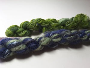 Hand Spun Yarn for Rug Hooking - Green - OOAK