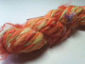 Hand Spun Yarn for Rug Hooking - Orange Grove - OOAK