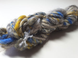 Hand Spun Yarn for Rug Hooking - Skies Clearing - OOAK
