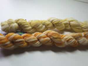 Hand Spun Yarn for Rug Hooking - Yellow -OOAK