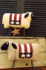 Patriotic Sheep - Rug Hooking Paper Pattern