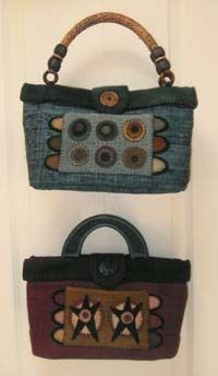 Circle Star Purses - Heart to Hand Wool Applique Purses