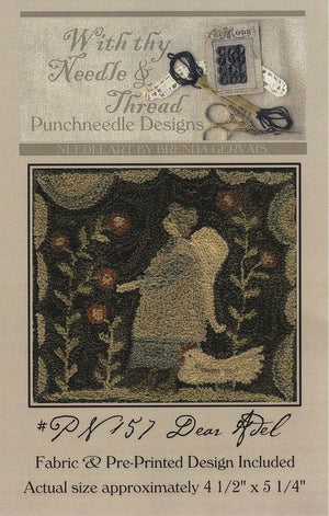 Dear Adel - Punch Needle Pattern by Brenda Gervais #157