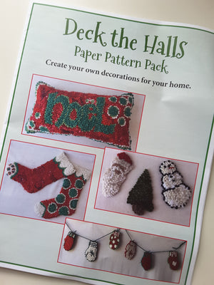 Deck the Halls -  Paper Pattern by Deanne Fitzpatrick - Christmas