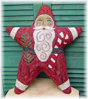 Santa is a Star - Rug Hooking Paper Pattern