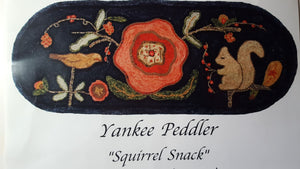 Squirrel Snack Primitive -  Rug Hooking Pattern on Linen