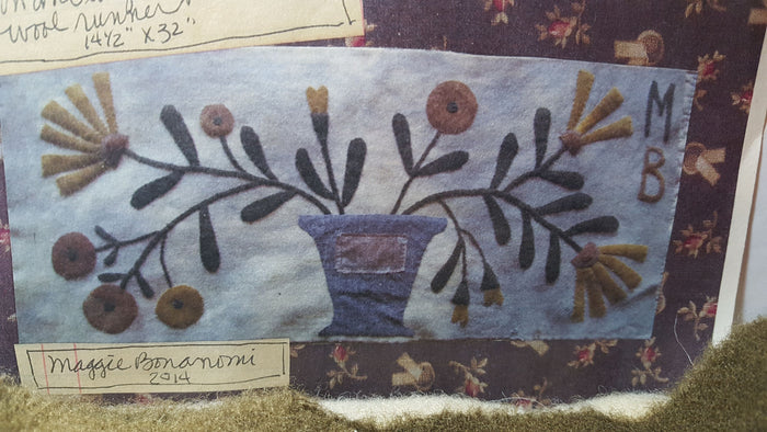 Sunshine in an Old Zinc Pot - Wool Applique Kit with Pattern-Bonanomi