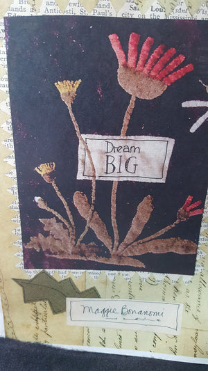 Dream Big - Wool Applique Kit with Pattern-Bonanomi