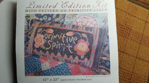 Primitive Spirit Pillow - Rug Hooking Kit with Pattern - Karen Kahle