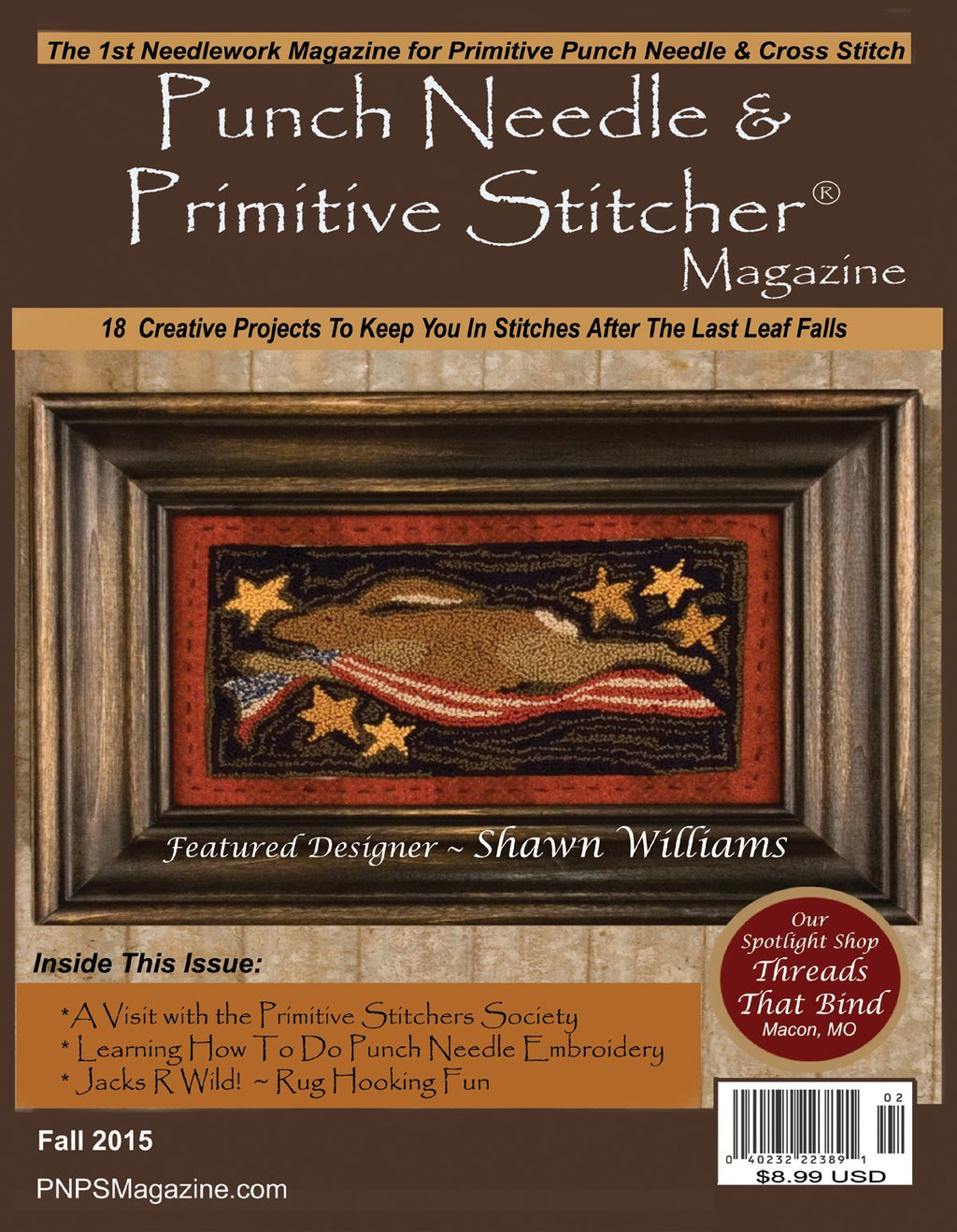 PUNCH NEEDLE & PRIMITIVE STITCHER Magazine - Single Issue Fall 2015