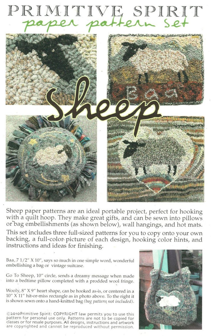 Sheep - Rug Hooking Paper Pattern
