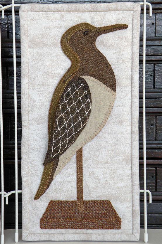 Sarah the Sandpiper from Sandy Neck Wool Applique Pattern