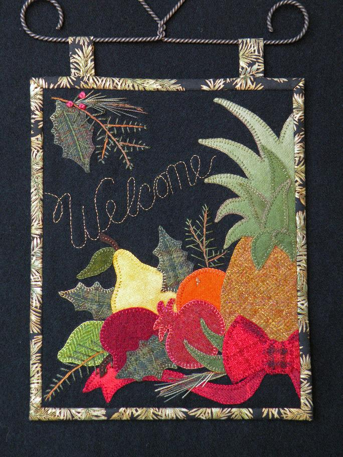 Winters Welcome Wool Applique Pattern