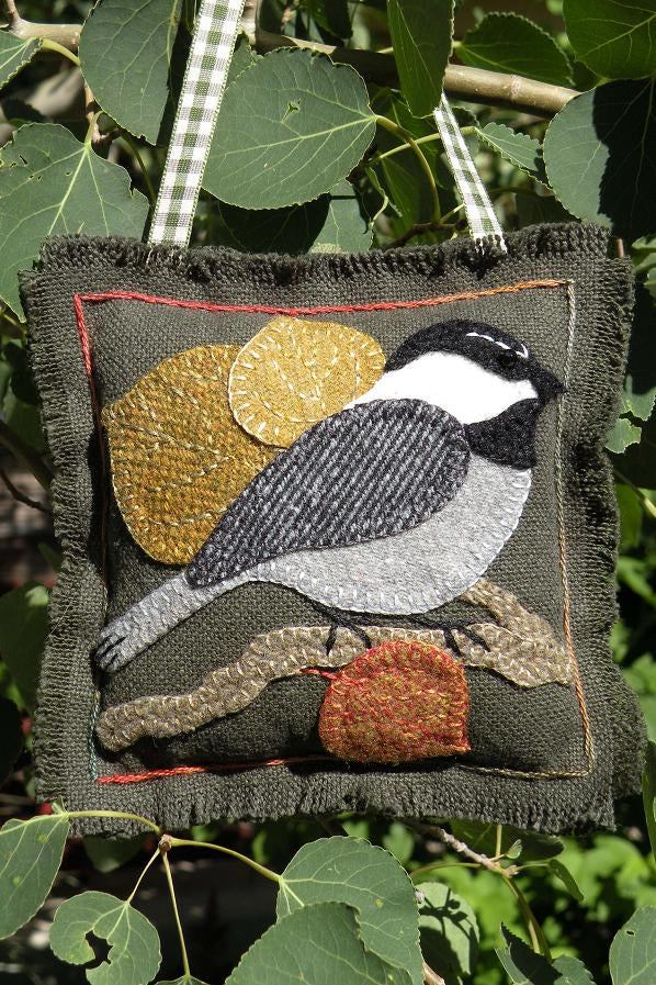 Chickadee on Aspen Wool Applique Pattern