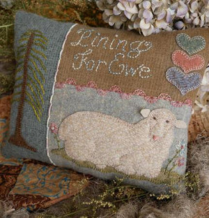 Pining for You -  Wool Applique Pattern - Pillow