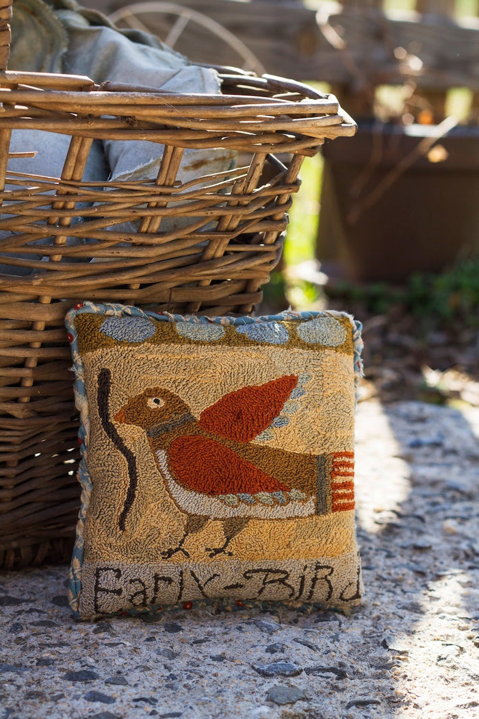 Early Bird Sawdust Pillow - Punch Needle Pattern