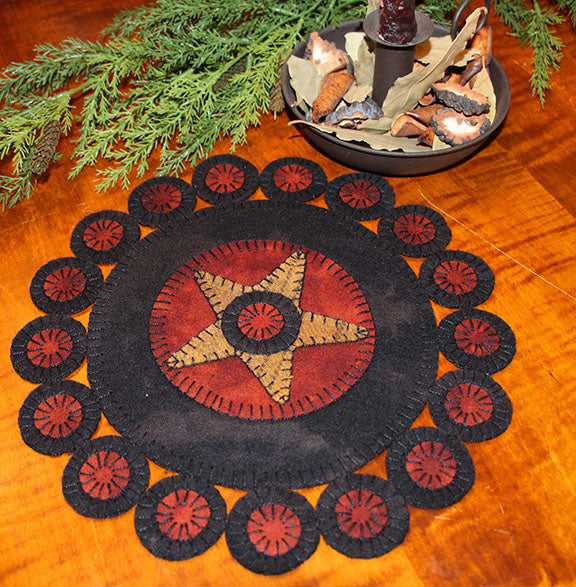 Primitive Pennies Wool Applique Kit with Pattern