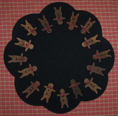 Ginger Boys Table Mat -  Wool Applique Pattern