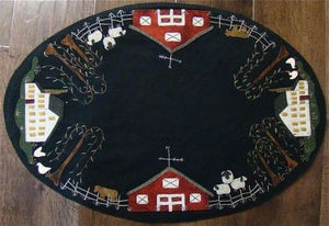Summer on the Farm Table Mat -  Wool Applique Pattern