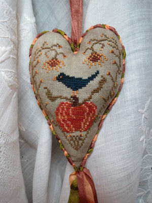 Pumpkin Harvest - Hanging Cross Stitch Ornament