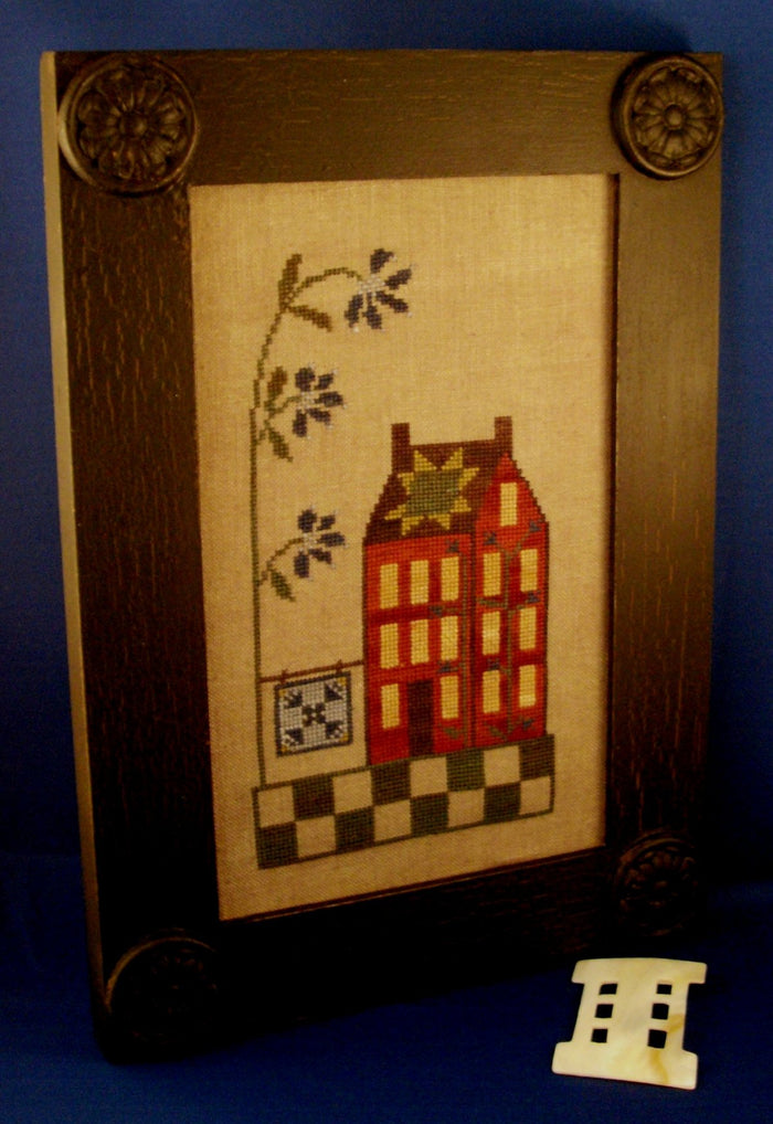 Quilted Shaker House - Cross Stitch