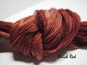 Brick Red #012 - Wool Thread for Needle Punch and Wool Applique - Red Sand Fibre
