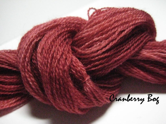 Cranberry Bog #040 - Wool Thread for Needle Punch and Wool Applique - Red Sand Fibre