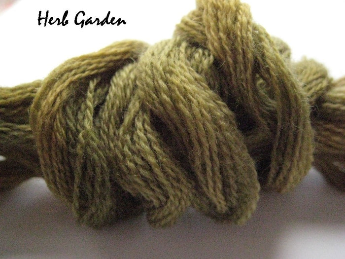 Herb Garden #017 - Wool Thread for Needle Punch and Wool Applique - Red Sand Fibre
