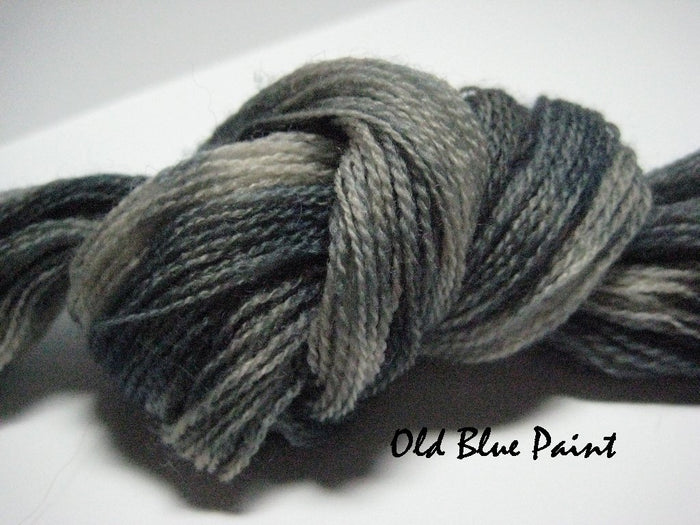 Old Blue Paint #011 - Wool Thread for Needle Punch and Wool Applique - Red Sand Fibre