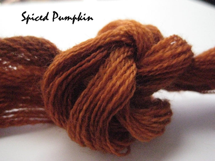 Spiced Pumpkin #008 - Wool Thread for Needle Punch and Wool Applique - Red Sand Fibre