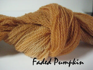 Faded Pumpkin #013 - Wool Thread for Needle Punch and Wool Applique - Red Sand Fibre