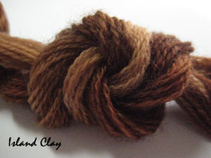 Island Clay #027 - Wool Thread for Needle Punch and Wool Applique - Red Sand Fibre