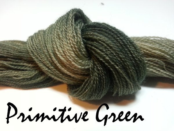 Primitive Green #043 - Wool Thread for Needle Punch and Wool Applique - Red Sand Fibre