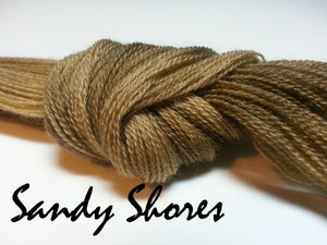 Sandy Shore #031 - Wool Thread for Needle Punch and Wool Applique - Red Sand Fibre