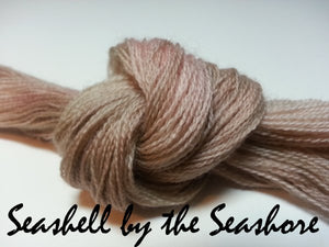 Seashell by the Seashore #037 - Wool Thread for Needle Punch and Wool Applique - Red Sand Fibre