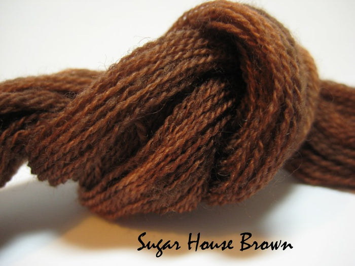 Sugar House Brown #034 - Wool Thread for Needle Punch and Wool Applique - Red Sand Fibre