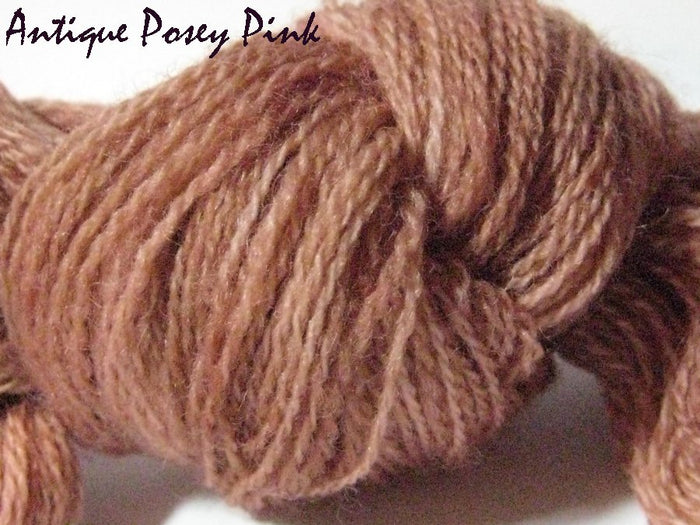 Antique Posey Pink #048 - Wool Thread for Needle Punch and Wool Applique - Red Sand Fibre