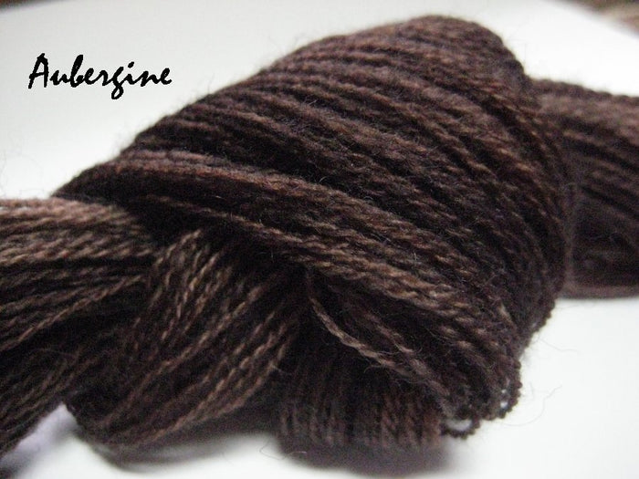 Aubergine #053 - Wool Thread for Needle Punch and Wool Applique - Red Sand Fibre