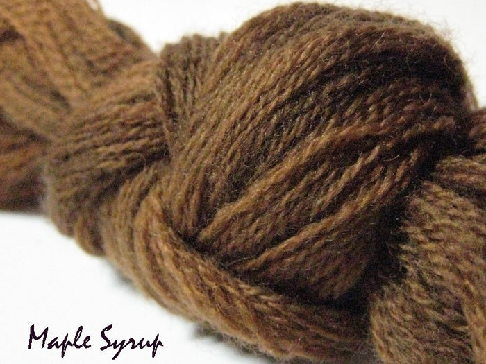 Maple Syrup #046 - Wool Thread for Needle Punch and Wool Applique - Red Sand Fibre