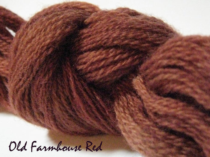 Farmhouse Red #045 - Wool Thread for Needle Punch and Wool Applique - Red Sand Fibre