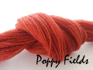 Poppy Fields #060 - Wool Thread for Needle Punch and Wool Applique - Red Sand Fibre