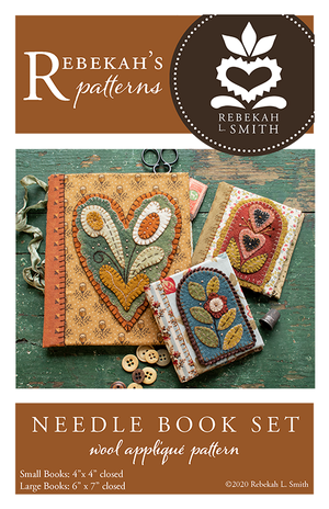 Needle Book Set -  Wool Applique Pattern by Rebekah L. Smith
